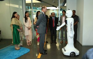 Mitra robot with Prince Edward