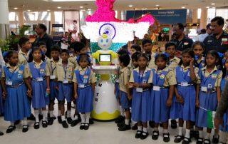 Mitri robot at the Chennai Airport