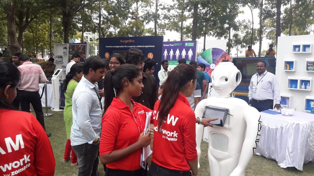 Zomato at Cognizant with Mitra Robot